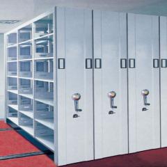 Steel mobile shelving antique library dense shelves