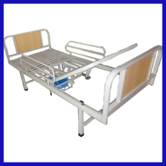 Manual medical bed with chamber pot