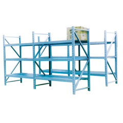 Metal cantilever storage shelf used for store pipe
