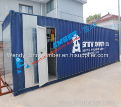 Containerized 10ton flake ice machine for fish shipping/concrete industry