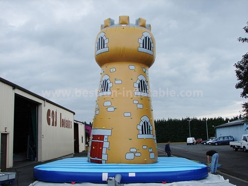 Commercial rock inflatable rock climbing wall game