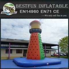Artificial inflatable climbing wall