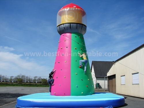 Durable PVC tarpaulin Climbing inflatabe pharos wall