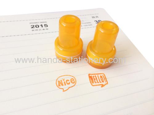 Custom kids plastic stamp set