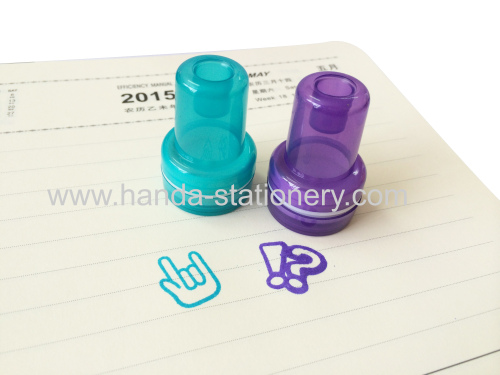 Custom kids plastic stamp set