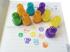 Custom kids plastic stamp set wwoden stamp