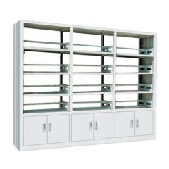 Single column two side book shelf cheap steel shelf unit
