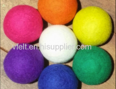 Felted wool laundry ball