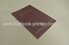 Custom 250gsm gold stamped cover softback brochure or book