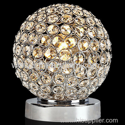 Creative ball crystal lamps bedroom lamp bedside lamp modern table lamp