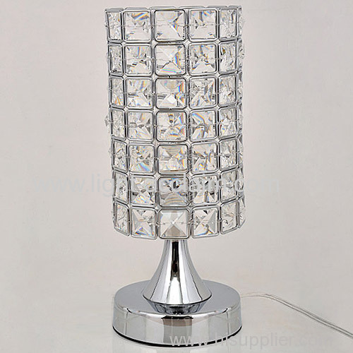 Small bedroom bedside crystal table lamp for sale