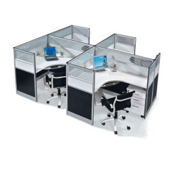 4 Person Cross Office Partion