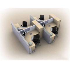 workstations office furniture clover, office partion for 4 person