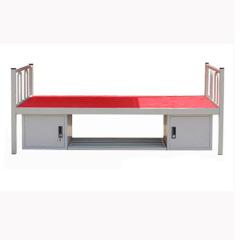 Strong school dorm metal bunk bed / metal iron bed / two floor metal bed in white