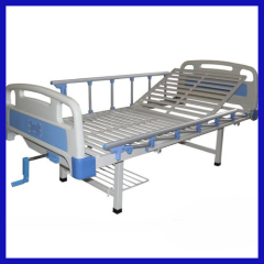 plastic coating steel structured single acting medical bed for sale