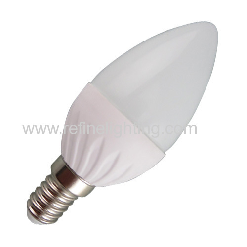 3W 4W 5W 6W LED candle bulb C37 280lm/380lm/450lm/520lm PC alu. body E14