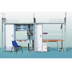 school furniture series dormitory beds with computer desk and closet