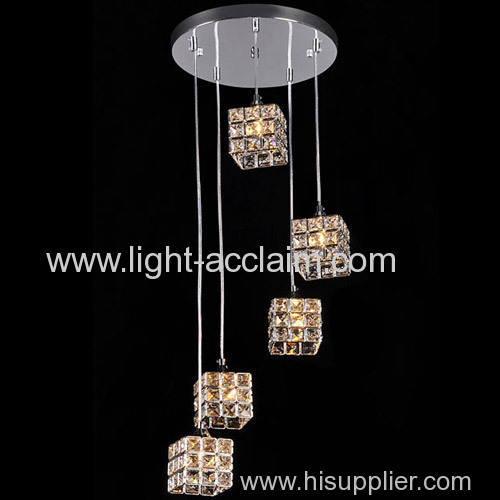 Modern minimalist staircase hanging crystal lights crystal living room chandelier