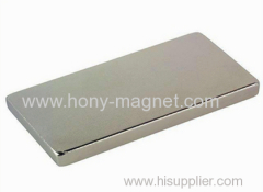 Block neodymium magnet with countersink