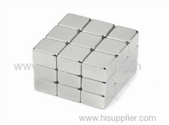 Hot sale customized magnet block coated Nickel.