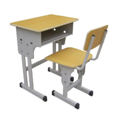 MDF student desk and chair set,double school furniture