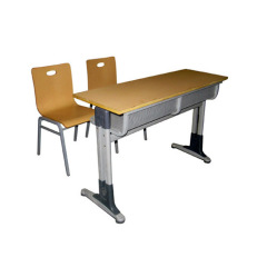 User-friendly Design Double Seater Student Desk And Chair
