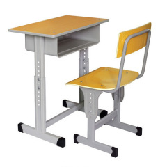 High Quality Single Student Desk and Chair / Double Student Table and Chairs