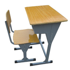 Handle adjustable student desk and chair sets