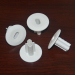 White Dual Coaxial Cable Wall Grommet For Double line installation