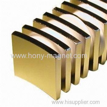 N33SH Zinc-plated neodymium arc magnet