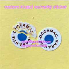 dia5mm tamper proof stickers