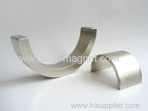 Wind Generator Arc shape neodymium magnet for hot sale
