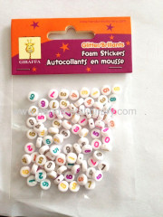 2015 wholesale White 4*7 mm round plastic DIY Alphabet Beads