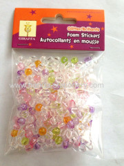 Make diy beads bracelet plastic round beads large hole glow in the dark beads