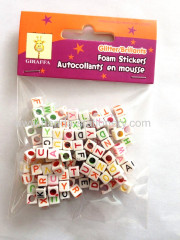 2015 wholesale White round plastic DIY Alphabet Beads