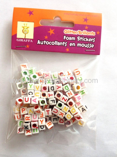 2015 wholesale Whiteround plastic DIY Alphabet Beads