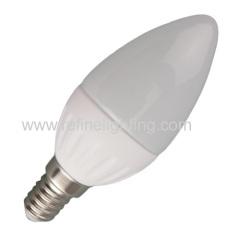 3W 4W 5W 6W LED candle bulb C37 280lm/380lm/450lm/520lm ceramic body E14
