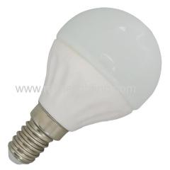 3W 4W 5W 6W LED global bulb G45 280lm/380lm/450lm/520lm Ceramic body E14