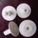 White Coaxial RG 6 Cable Installation Wall Bushing
