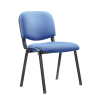 Wholesale four black metal legs fabric staff office chair