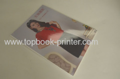 Varnished coating cover clothing enterprise brochure softback book