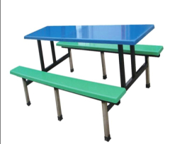 Rectangle School Dining Furniture fast food tables and seats