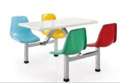 4 Seats School Dining Table And Chair Sets
