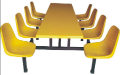 company/school/barrack canteen use 8seat Steel Dining Table & Chair/Dining Room Table and Chair