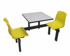 Two Seaters School Dining Table and Chair Set