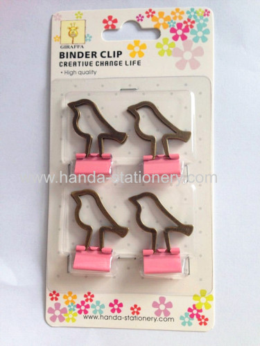 hot sale bird shape metal binder clip paper clip push pins
