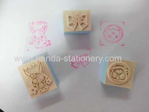 various cartoon plastic stamp  eva stamp wooden stamp