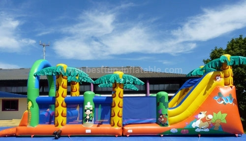 2015 Insane Inflatable 5k Course & Obstacles