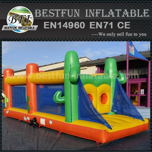 Obstacle course inflatable party rentals