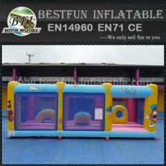 Mini inflatable bounce park for kids